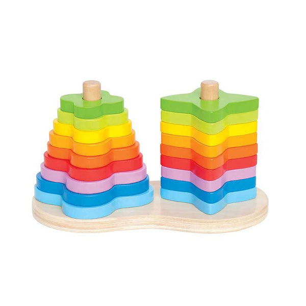 Double rainbow stacker Hape