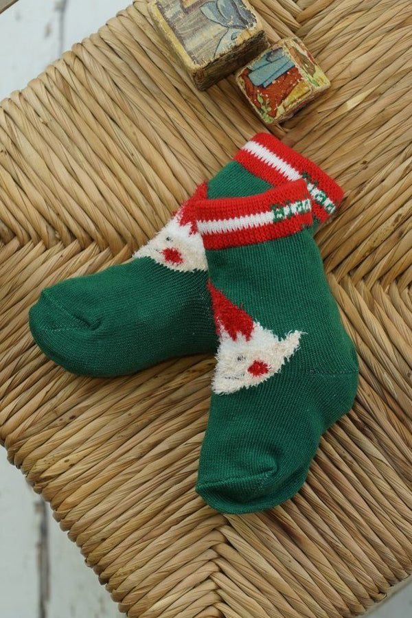 Fluffy Christmas socks - elf