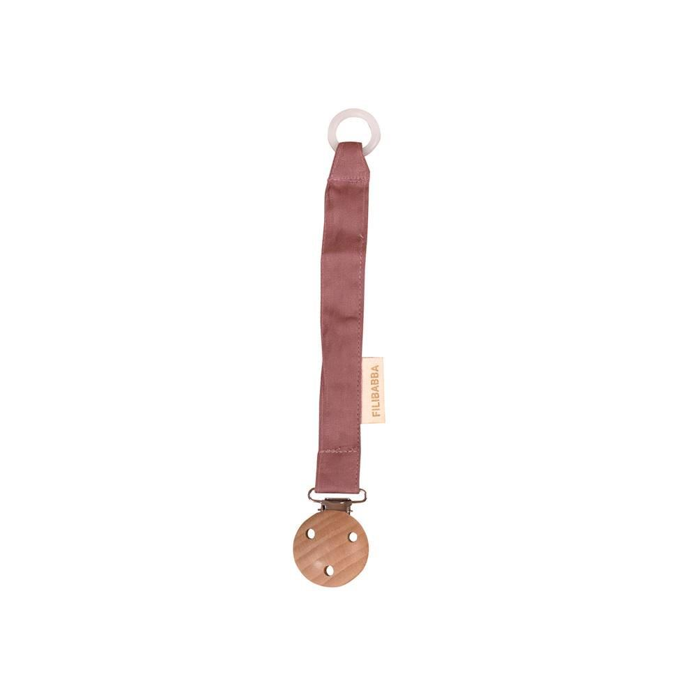 Pacifier holder dusty rose Filibabba accessories Filibabba