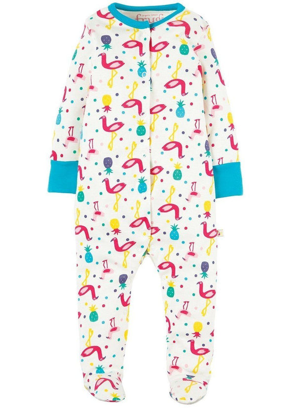 Lovely babygrow - flamingo party