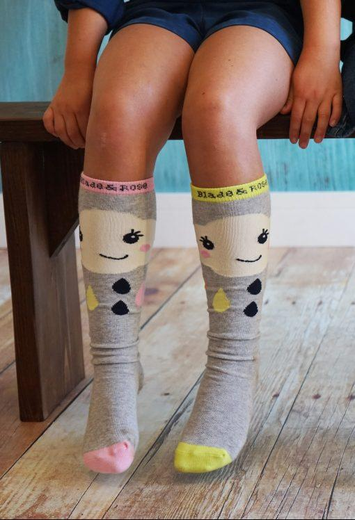 Cloud knee high socks