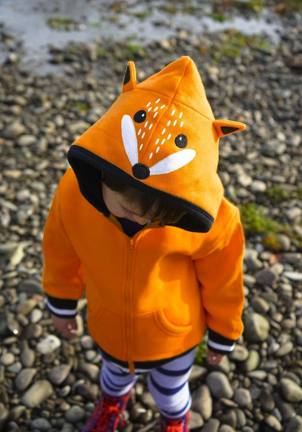 Bright orange fox hoodie