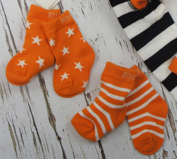 Orange & cream socks - 2 pack