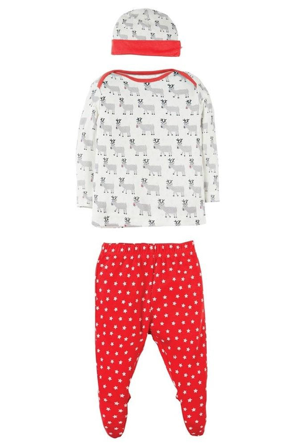 Reindeer adorable baby gift set Playsuit Frugi