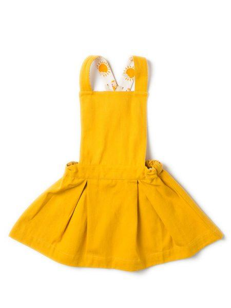 Gold pinafore dress Dresses Little Green Radicals