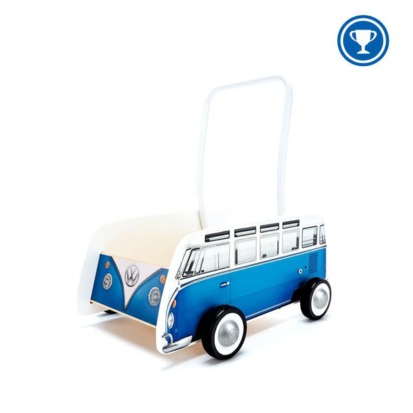 Copy of Wooden classical VW van walker blue Hape