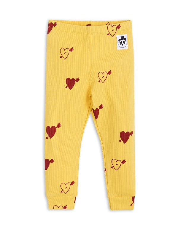 Heart rib leggings
