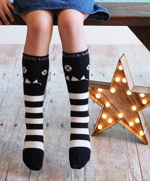 Crazy cat knee high socks