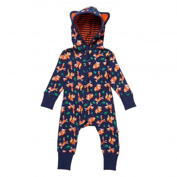 Hooded playsuit fox Piccalilly