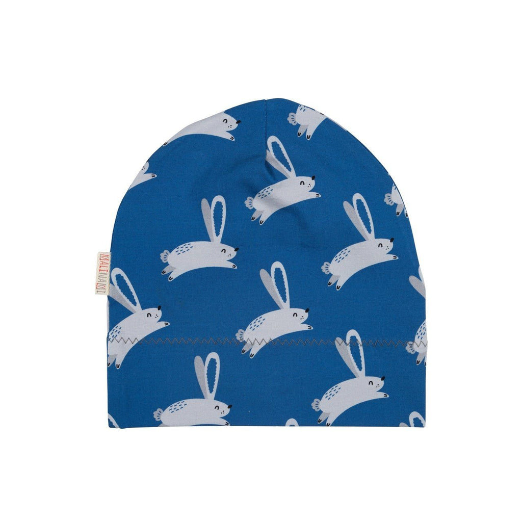 Hare on blue beanie Malinami Hat Malinami