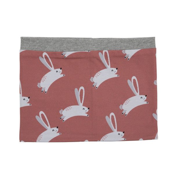Hare on dusty rose scarf Malinami Scarf Malinami