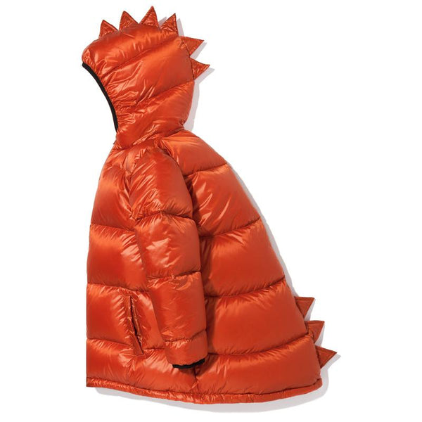 Dino down jacket ginger red Jackets Kukukid