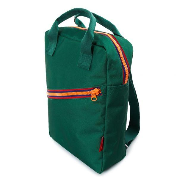 Large recycled plastic green backpack Engel