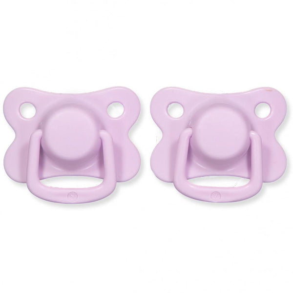 Pacifiers 2-pack light lavender +6M Filibabba