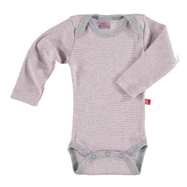 Body LS striped pink grey