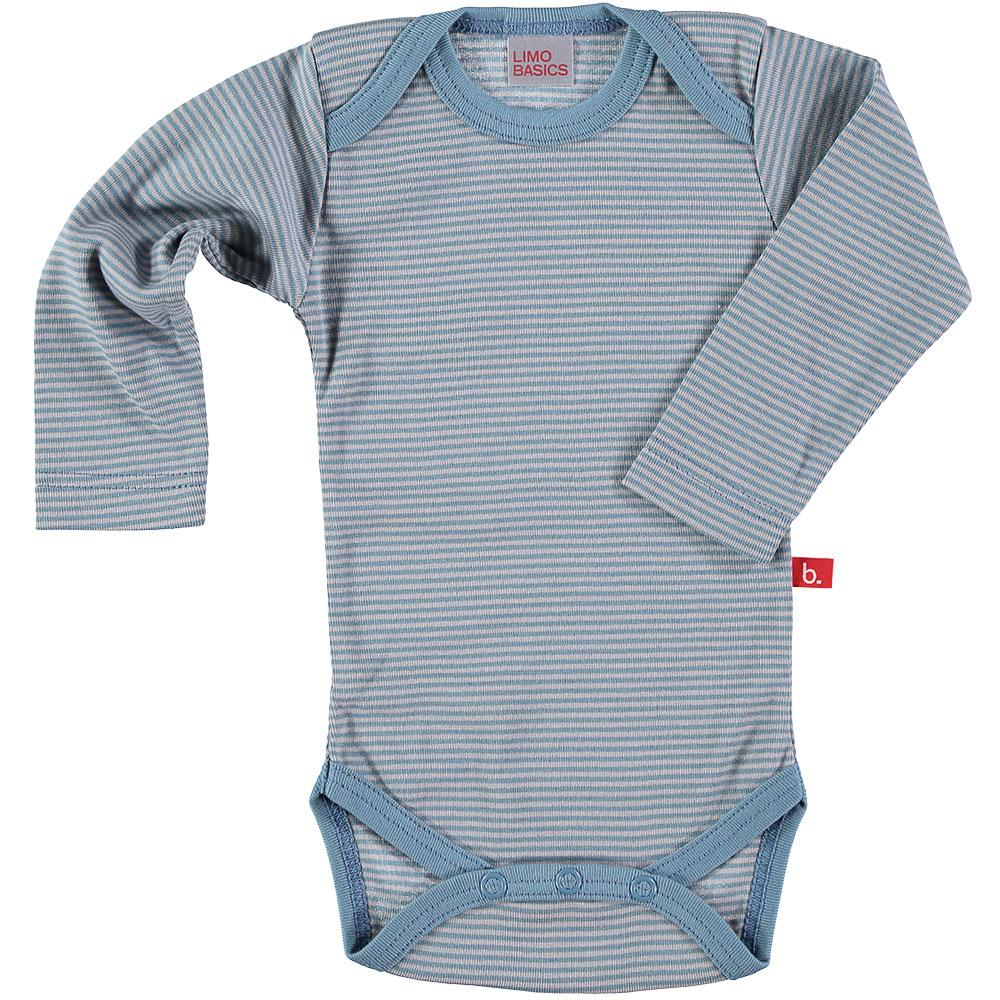Body LS stripes denim grey
