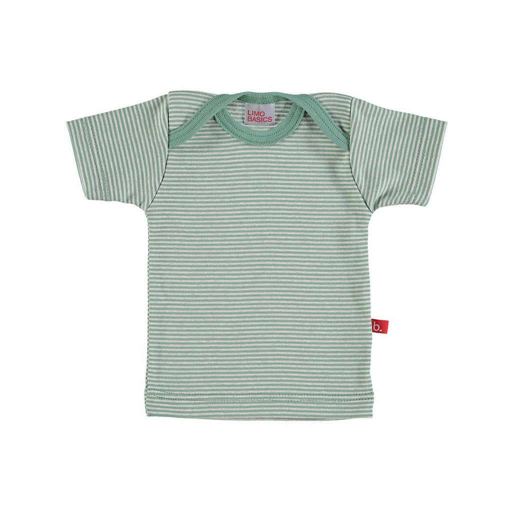 T-shirt stripes green and sand Tops LimoBasics