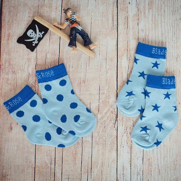 Blue socks - pirate - 2 pack