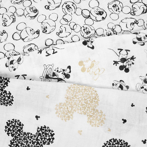 1 muslin Mickey's 90th birthday muslins swaddle