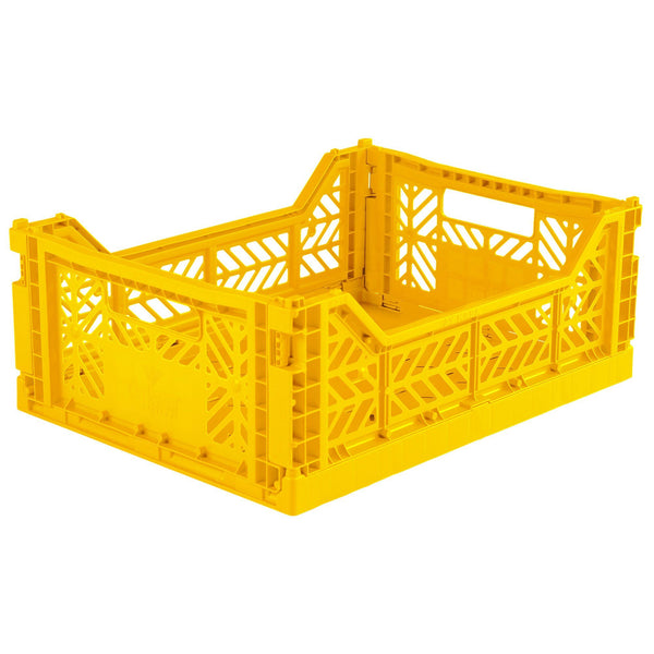 Medium yellow folding crate Aykasa