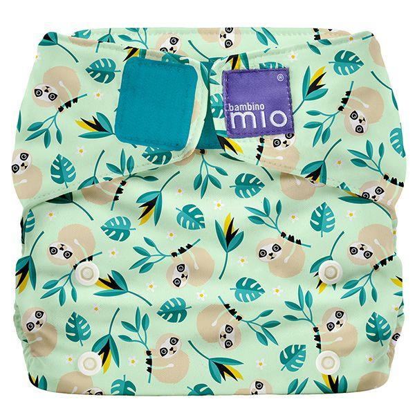 All-in-one reusable nappy swinging sloth Bambino Mio