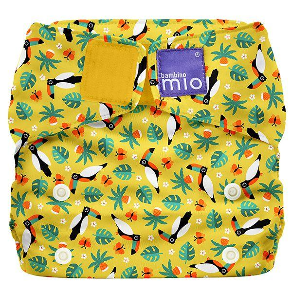All-in-one reusable nappy tropical toucan Bambino Mio
