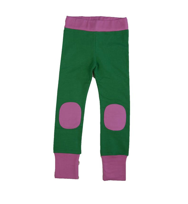 Leggings green & pink