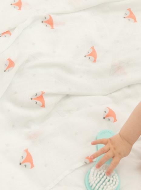 Foxy bamboo muslin Mr Wonderful Muslin Mr Wonderful