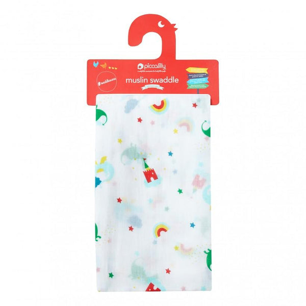 Muslin swaddle magic dragon Piccalilly Muslin Piccalilly