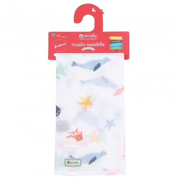 Muslin swaddle underwater Piccalilly Muslin Piccalilly