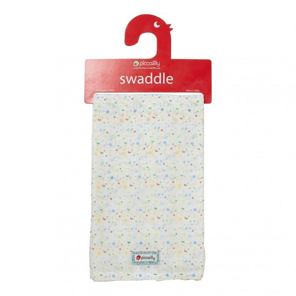 Muslin swaddle ditsy star Piccalilly Muslin Piccalilly