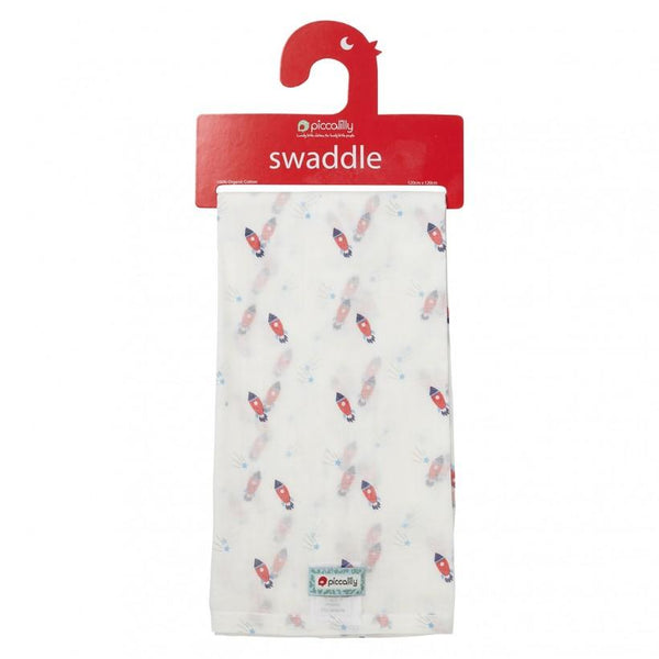 Muslin swaddle rocket Piccalilly Muslin Piccalilly