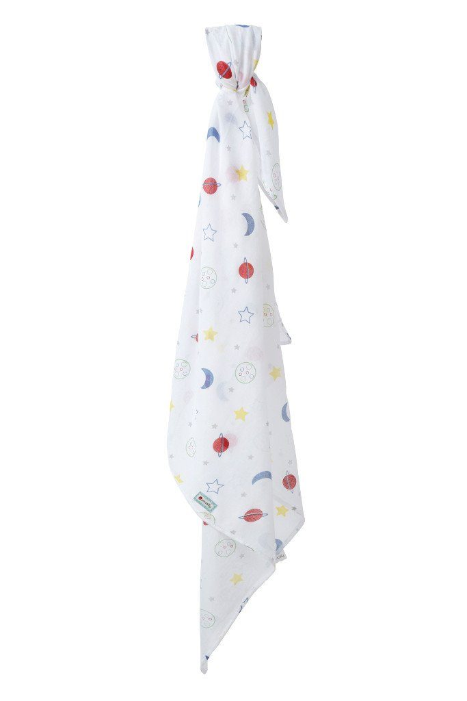 Muslin swaddle stars & planets