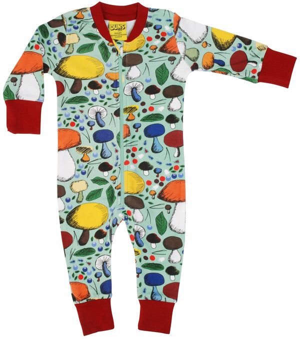 Mushroom forest zip suit Duns Sweden Playsuit Duns Sweden