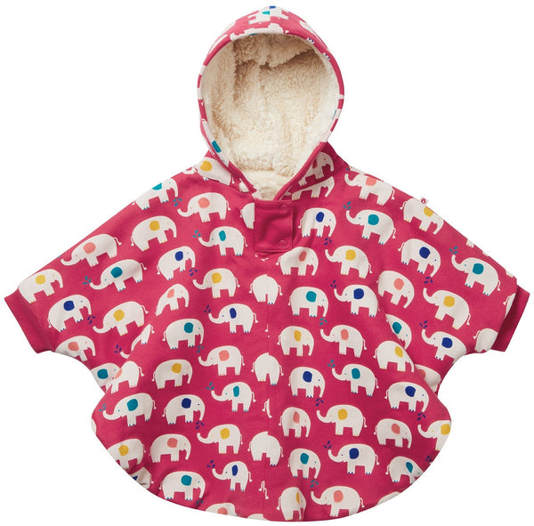Kids poncho elephant Piccalilly