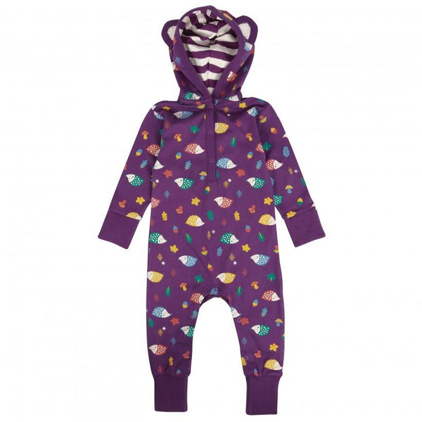 Hooded playsuit hedgehog Piccalilly
