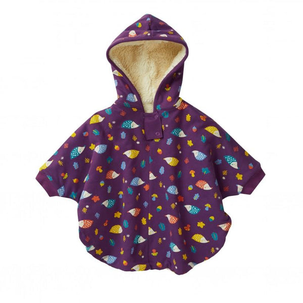 Kids poncho hedgehog Piccalilly