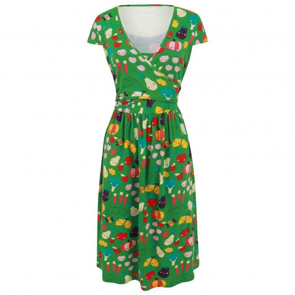 Women's wrap dress grow your own Piccalilly Woman Piccalilly