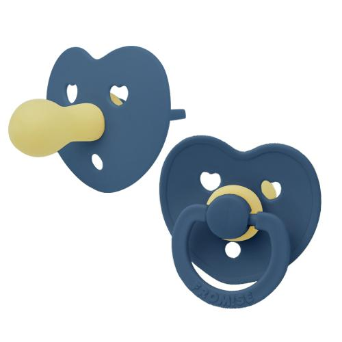 Heart silicone pacifier blue moon Pacifier Fromise