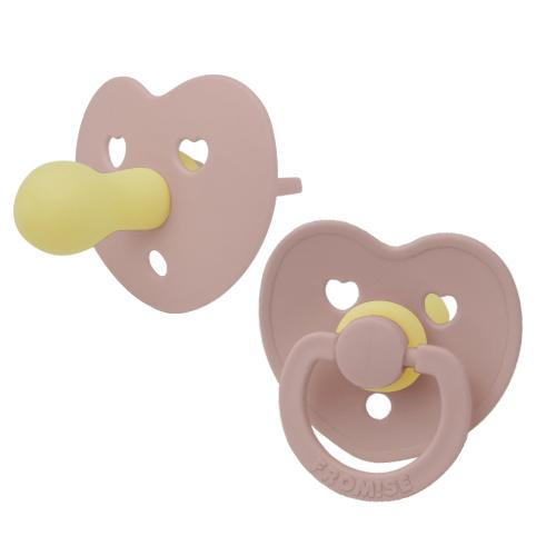 Heart silicone pacifier primrose Pacifier Fromise