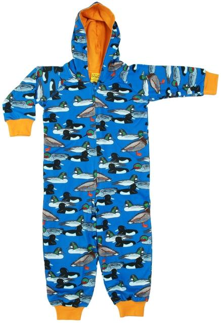 Duck pond blue lined suit with hood Duns Sweden Playsuit Duns Sweden