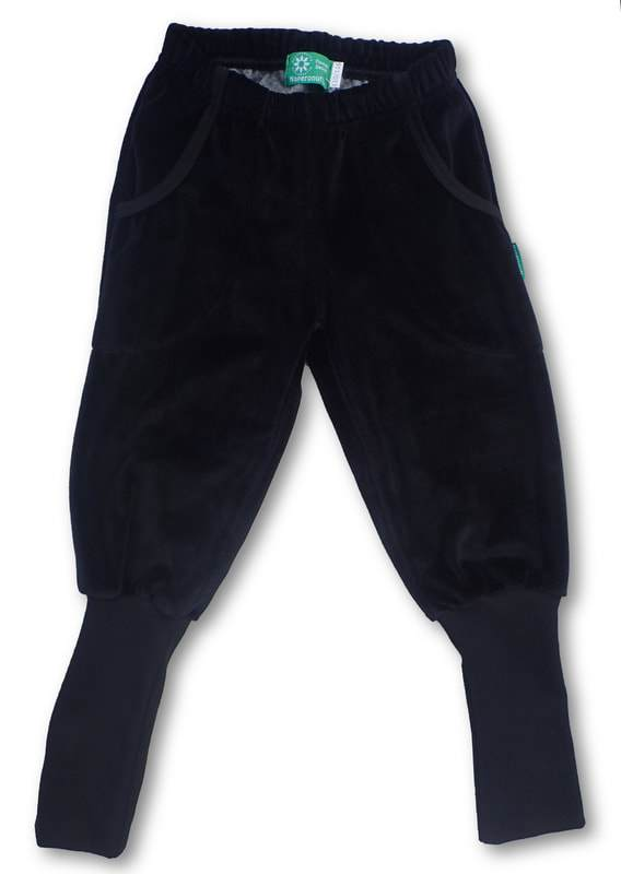 Pants black velour Naperonuttu Bottoms Naperonuttu