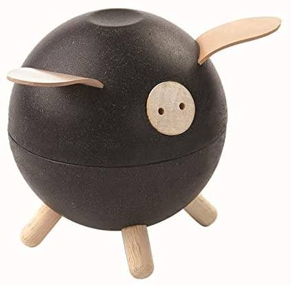 Piggy bank black PlanToys Toys PlanToys