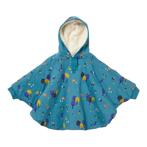 Reversible poncho woodland Piccalilly
