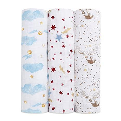 Harry Potter swaddle muslins - 3 pack