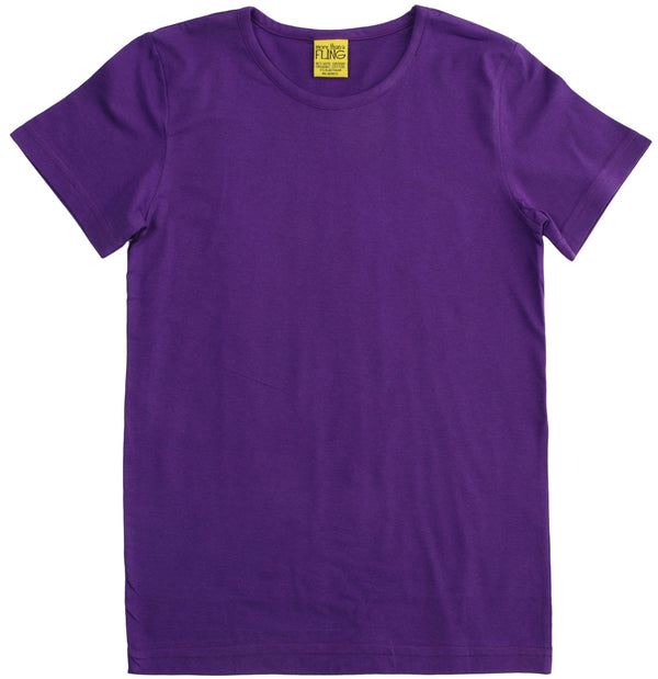 Purple short sleeve top