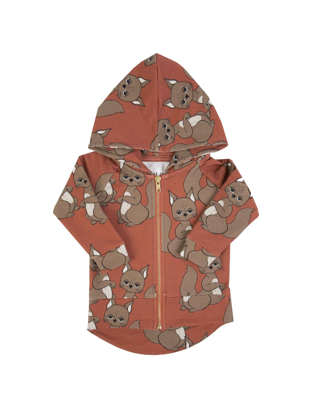 Squirrel hoodie Dear Sophie Jackets Dear Sophie