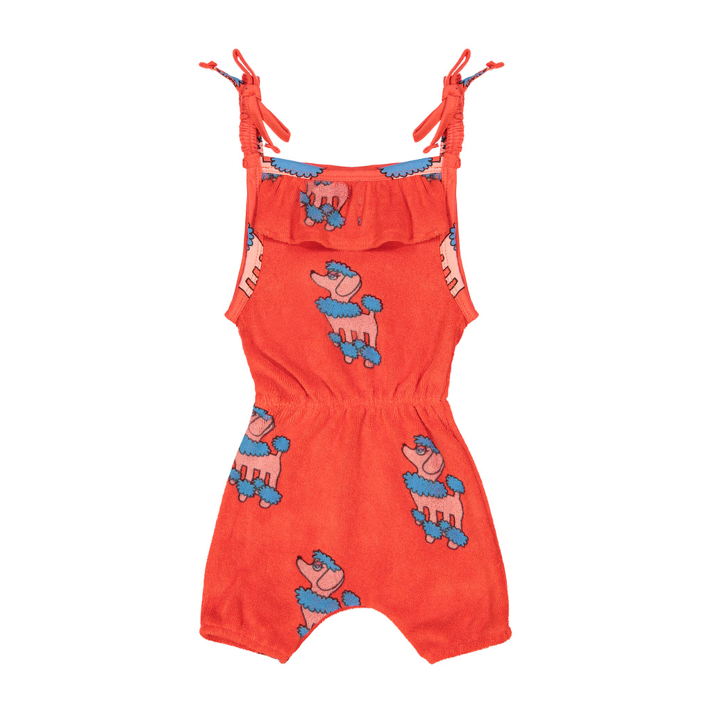 Terry ruffle playsuit poodle Hugo Loves Tiki
