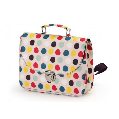 Small recycled plastic dots schoolbag Engel