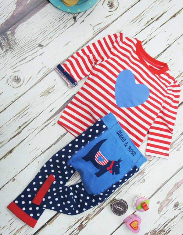 Stripes & heart top